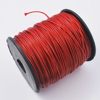 2 Meter Red Cotton Waxed Wire (1mm) 13