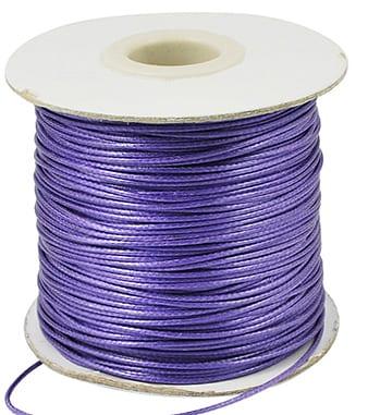 2 Meter Dark Purple Cotton Waxed Wire (1mm) 6