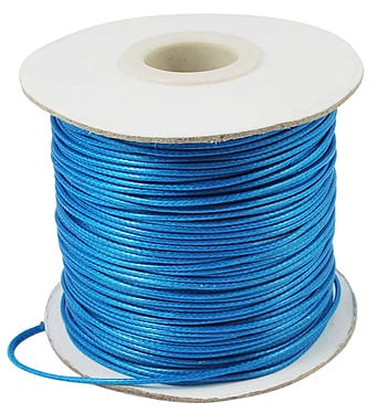 2 Meter Blue Cotton Waxed Wire (1mm) 3