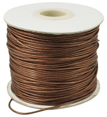 2 Meter Brown Cotton Waxed Wire (1mm) 4