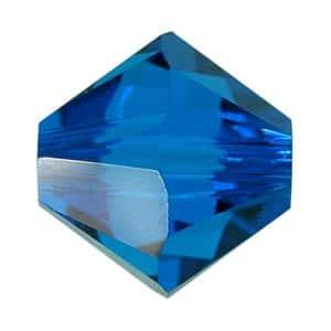 Capri Blue Swarovski Bicone Crystal Beads (5301) - 6mm 2