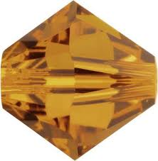 Crystal Copper Swarovski Bicone Crystal Beads (5301) - 6mm 5