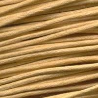 5 Meter Cream Cotton Waxed Wire (1.5mm) 18