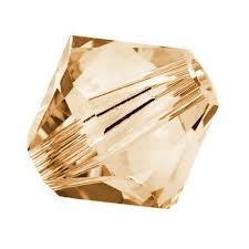 Golden Shadow Swarovski Bicone Crystal Beads (5301) - 8mm 6