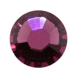 100 Amethyst Swarovski Rhinestone Glue-on Crystals (SS9) 1