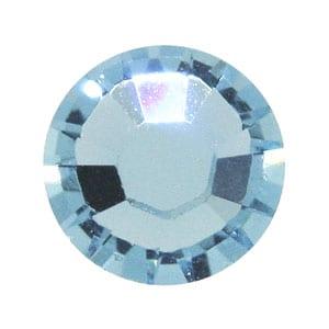 100 Aquamarine Swarovski Rhinestone Glue-on Crystals (SS9) 2