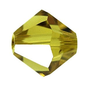 Lime Swarovski Bicone Crystal Beads (5301) - 8mm 15