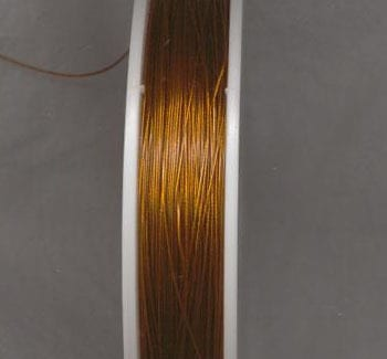 100 Meters Tiger Tail Wire spool - Rustic Gold (0.38) 14