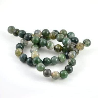 Moss Agate Semi Precious Stone Strand - (8mm) 18