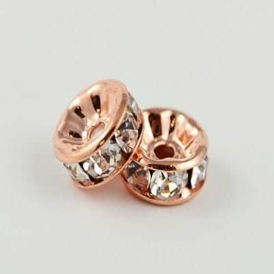 Rhinestone - Rose Gold Spacers