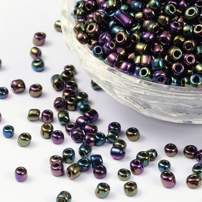 6/0 Multi Coloured Lustre Seed beads - (10 grams) 4