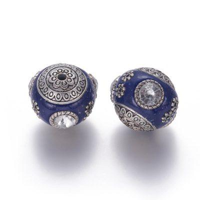 Dark Blue Stylish Kashmiri Beads - Choice Artisan Beads (01)