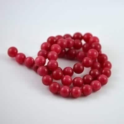 Coral Candy Jade Strand (8mm) 7