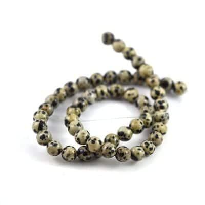 Dalmation Gemstones  Beads Strand (8mm) 8