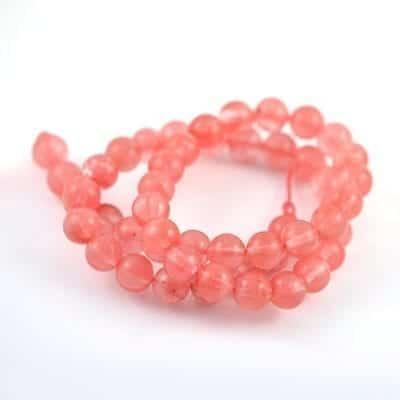 Cherry Quartz Gemstones Beads Strand (8mm) 5