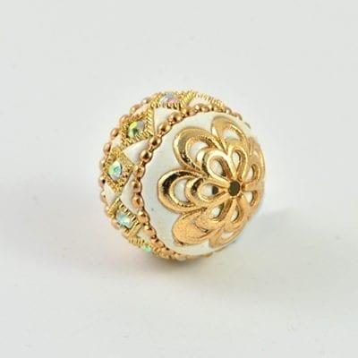 Golden Wire Kashmiri Bead ( 18X18mm) 9