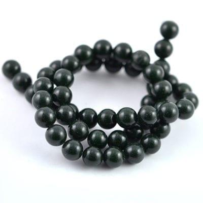 Green Gold Stone Gemstones Beads Strand (8mm) 11