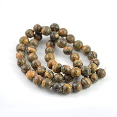 Leopard Skin Jasper Gemstones Strand (8mm) 14