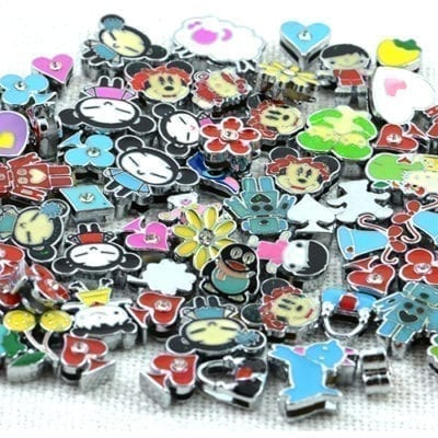 10 Slide Charms various sizes, shapes and colours 2