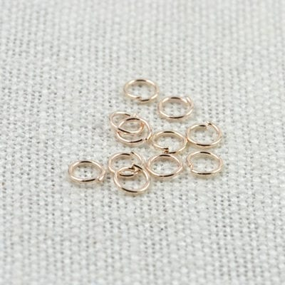 100 Rose Gold Jump Rings - (4mm) 4