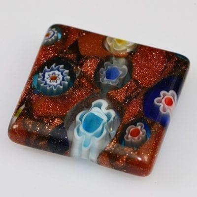 Millefiori Beads - Rectangular