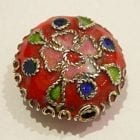 Cloisonne Beads - Round Floral