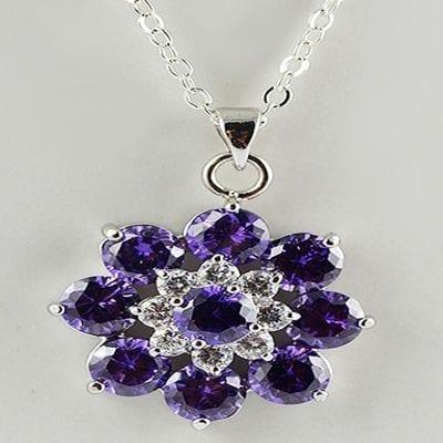 Flower Metal Crystal Pendant