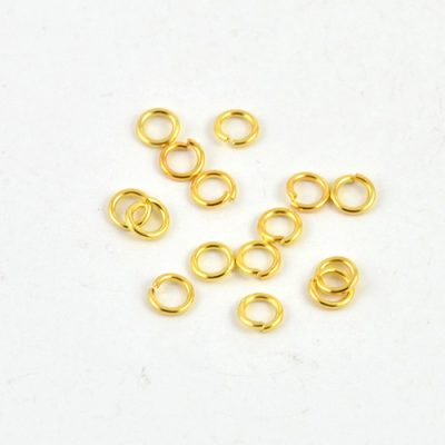 100 Gold Plated Open Jump Rings (4mm) 2
