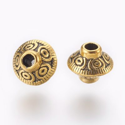 Antique Golden Tibetan Metal Spacer Beads