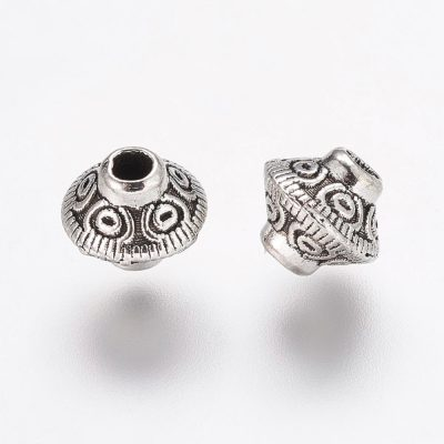Antique Silver Tibetan Metal Spacer Beads