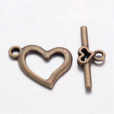 1 Antique Bronze Bar and Ring Toggle Clasp 1