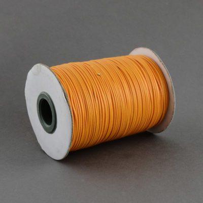1 Meter Orange Waxed Cord - (1mm) 1