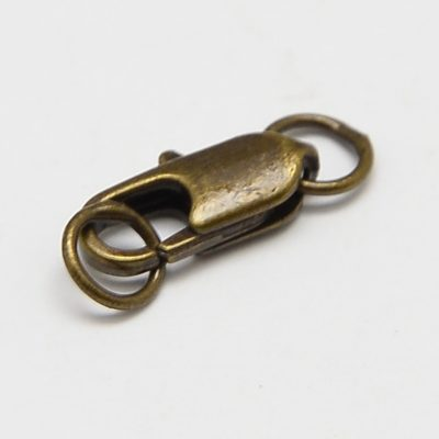 1 Antique Bronze Lobster Claw Clasps - (7mmx21mm) 2
